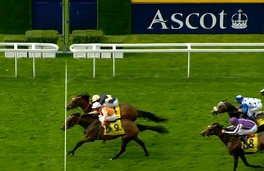 Danedream ajuste Nathaniel sur le fil dans l'édition 2012 des King George VI and Queen Elizabeth Stakes.