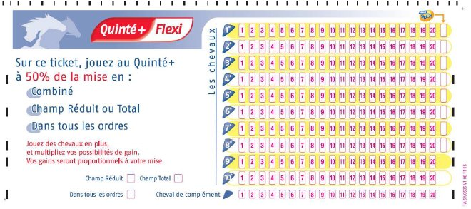 Quinte flexi - remplir un ticket
